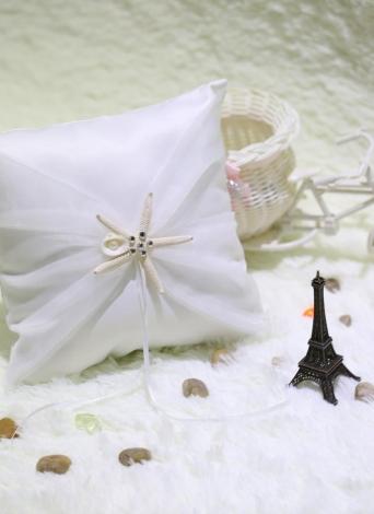 Fournitures de génial bon mariage romantique doux Satin bague de mariage oreiller