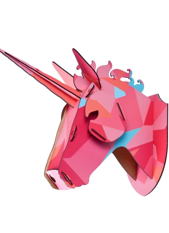 3D DIY En Bois Maison Tête des Animaux Bois Décor À La Maison MDF Artisanat Art Tenture Décoration Pendentif Meilleurs Cadeaux