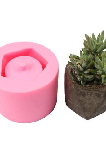 1 PCS Fleur En Pot Jardinière Moule En Silicone À La Main Artisanat Jardin Décoration de La Maison Plante Pot De Fleurs Ciment Vase Moules Style 1