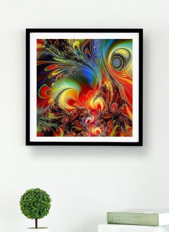 5D DIY Алмазная живопись Красочная мандала Pattern Rhinestone Patchwork Wall Room Украшение