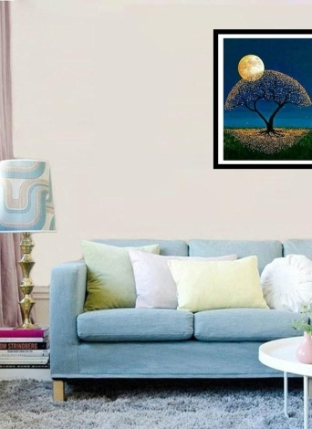 5D DIY Diamond Painting Kit Arts Crafts Embroidery Cross Stitch Rhinestone Decoration Canvas Wall Home Office Decor Style 1