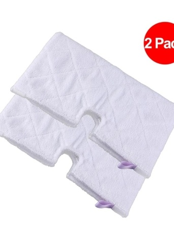 2pcs Washable Replacement Cleaning Pads Microfiber Dusting Pad for Steam Mop S3501 S3601 S3550 S3901 (Package 1)