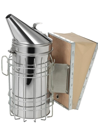 Beekeepers Tool New Stainless Steel Bee Hive Smoker with Heat Shield Protection Beekeeping Equipment