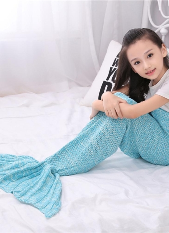 Handcrafted Knit Couverture Drôle Unique Life-size Mermaid Tail Couverture pour Femmes Filles Chaud Cadeau D'hiver