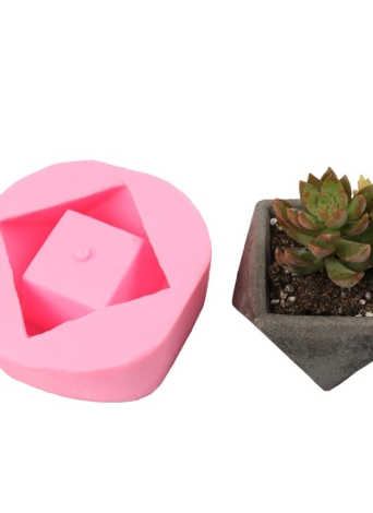 1PCS Flower Potted Planter Silicone Mold Handmade Craft Garden Home Decoration Plant Flowerpot Cement Vase Molds Style 1