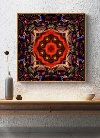 5D DIY Diamond Painting Colorful Mandala Pattern Rhinestone Patchwork Wall Room Decoration