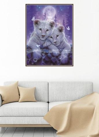 8 * 10 pollici / 20 * 25 cm DIY Pittura Diamante 5D Kit Tigre Resina Strass Mosaico Ricamo Punto Croce Mestiere Decorazione Della Parete di Casa