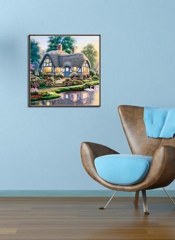 12 * 12 дюймов / 30 * 30 см DIY 5D Diamond Painting Kit Дом Смола Rhinestone Мозаика Вышивка Крест Stitch Craft Home Wall Decor