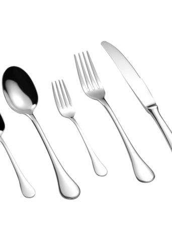 Gli articoli da tavola solidi di prima scelta del buon flatware di stile di lusso di alta qualità di 5pcs / set hanno fissato gli articoli da tavola con la scatola di immagazzinaggio