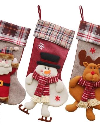 Рождественские висячие чулки Подарочная сумка для конфет Рождество Декоративные украшения - Санта