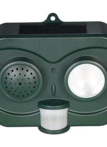 Repelente de repelente para repelente de pássaro e morcego solar com sensor de movimento PIR Imitação de som para repelir aves