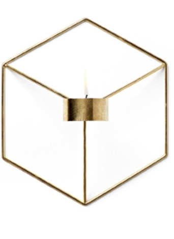 Art 3D Geometric Candlestick Metal Wall Candle Holder Living Room TV Ark Decoration