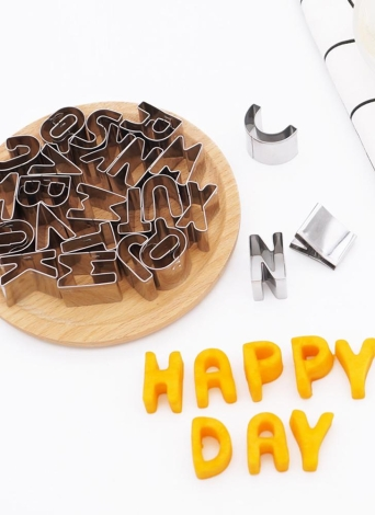 26pcs lettere alfabeto in acciaio inox formine per biscotti fai da te 3d biscotti stampi mini a-z a forma di muffa che decora attrezzo bakware cucina fondente strumenti di decorazione