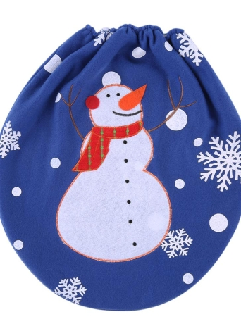 4 Soft Polyester Snowman Christmas Toilet Seat Cover Christmas ...