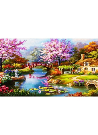 NAIYUE 31 * 15 inches / 79 * 38cm DIY 5D Diamond Painting Kit Scenery Pattern Rhinestone Mosaic Embroidery Cross Stitch Craft Home Wall Decor