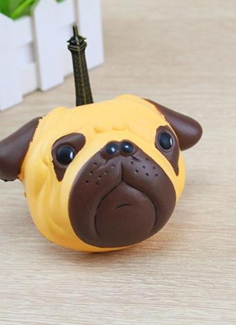 Exquisito y divertido perro suave de dibujos animados Squishy Slow Squeeze juguete de aumento correas del teléfono de bolas de simulación Kawaii fruta Squishies y juguetes perfumados de crema para niños y adultos