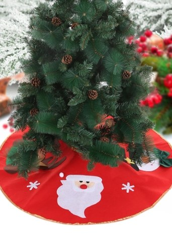 40 centimetri Diametro Rosso Albero di Natale Albero Non tessuto Santa Calus Pupazzo di neve Reindeer Pattern Albero di Natale Decorazioni Ornamenti