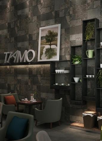 Motif Vivid Pierre 3D Brique chinoise Style rétro amovible Faux Brick Wall Wallpaper Chambre Décoration Fond 0.53m * 10m = 5.3㎡