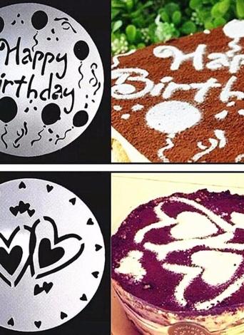 4 stücke von Umweltschutz PVC Garland Vorlage Kuchen Druck Schablone Alle Arten von Spray Muster in Haus und Küche von Kochen Kunst