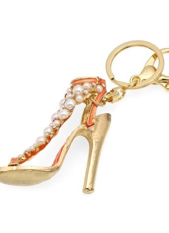 Chaussures à talons hauts porte-clés en alliage de zinc strass porte-clés avec clip crochet sac à main sac à main voiture pendentif ornement décor