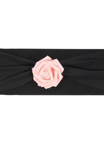 10 unids boda silla fajas arcos elástico spandex fundas de la cubierta del sash con flor rosa boda banquete suministros decoraciones - azul real