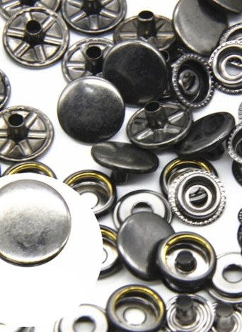 15mm 25pcs a Set of Metal Snap Button with Fastener Installation Tool for Children and Adult Clothes and Leather