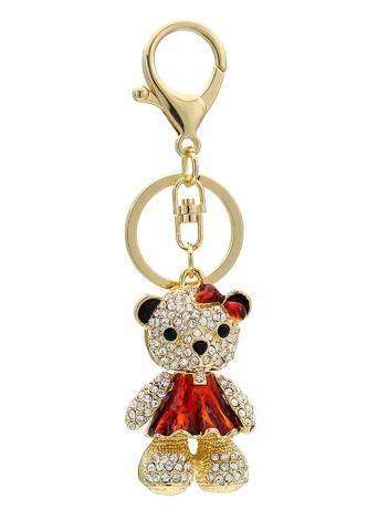 Portachiavi in lega di zinco con strass chiave lucente Portachiavi con gancio clip borsa borsa auto Ornament Decor - Elephant