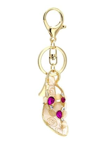 Zapatos de tacón alto llavero anillo de aleación de zinc con llavero clip gancho bolso colgante del coche decoración del ornamento