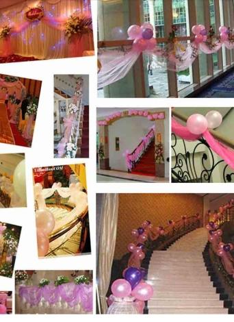 Voile tessuto rigido Roll puro tavolo Swag per matrimonio decorazione partito verde