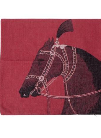 Luxe européen cheval coton et lin, taie d'oreiller retour coussin couverture Throw taie d'oreiller pour lit canapé voiture décoratifs décoration 45 * 45cm
