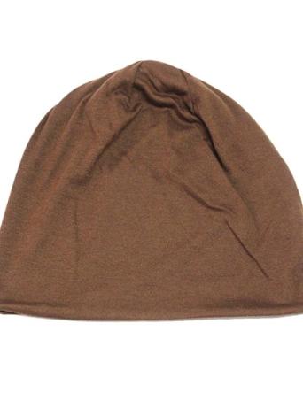 Neue Mode Männer Frauen Mütze Volltonfarbe Hip-hop Slouch Unisex gestrickte Mütze Hut braun