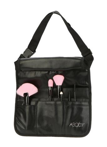Profesional bolsa de PU de maquillaje cosmético Bolso del cepillo delantal de artista con la correa