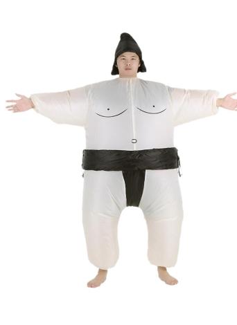 Carino vestito per adulti gonfiabile Sumo costume con Air azionato il ventilatore vestito operato Halloween Party Cosplay Outfit Fat gonfiabile costume Wrestler