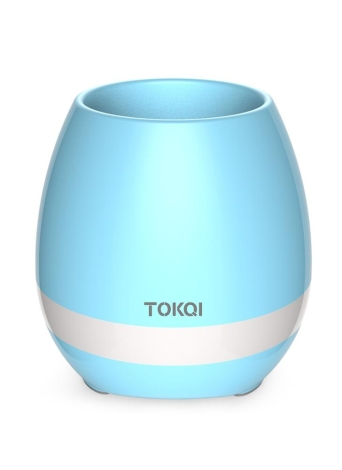 Tokqi Maceta Colorido LED Noche Luz Smart Touch Música Piano Planta Lámpara Recargable Wireless BT Bluetooth Altavoz Regalo