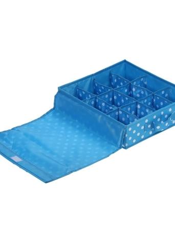 12-Comparación impermeable Oxford tejido plegable ropa interior caja de almacenamiento caja de los calcetines de los cuellos armario organizador contenedor con tapa - rosa roja