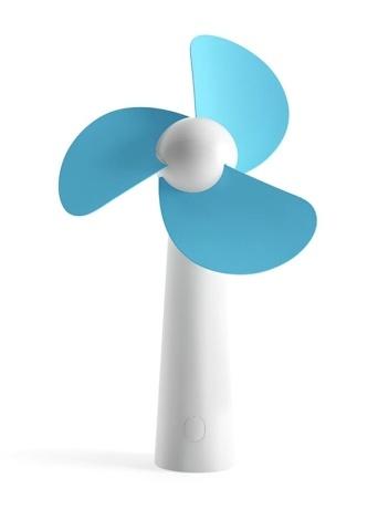 Ventilateurs personnels électriques portatifs tenus dans la main de mini ventilateur de refroidissement pour la maison et voyage bleu