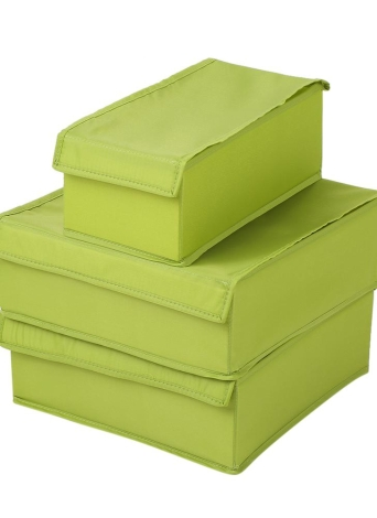 3pcs Waterproof Oxford Fabric Foldable Bra Underwear Storage Box Case Socks  Ties Closet Drawer Organizer Container