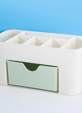 Экономия пространства Desktop Cosmetic Макияж хранения ящик Тип Box 6 Grids Brush Lipstick Holder Pink