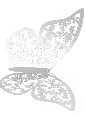12 unids / set 3D Mariposa Pegatinas de Pared Pegatinas Murales Extraíbles DIY Art Wall Decals Decoración con Pegamento para Dormitorio Wedding Party - Plata