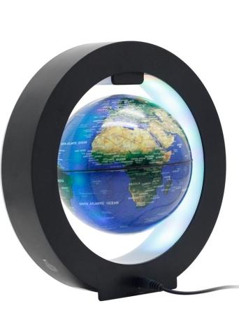 """Globe flottant magnétique 6 """"Lévitation Rotating Ball avec LED Lumières Bouton d'alimentation Levitating Carte du monde Globe pour Home Office Décoration Enfants Éducation Cadeaux EU Plug"""