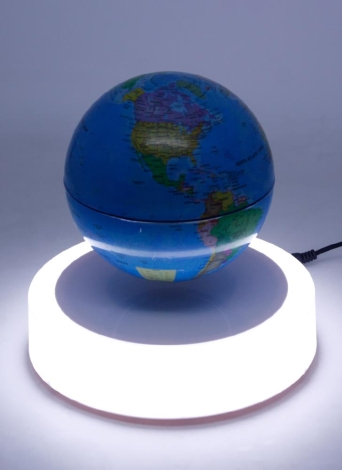 Magnetic Floating Globe 6inch Suspension Levitation Rotating Ball LED Light Base Levitating World Map Globe for Home Office Decoration Kids Education Gifts US Plug