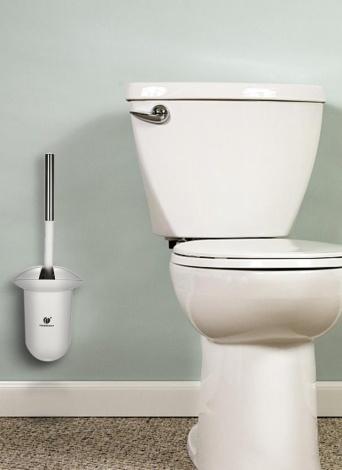 CHUANGDIAN - Cepillo y retrete para inodoro oculto en la pared - Herramienta de limpieza de la taza del inodoro para baño