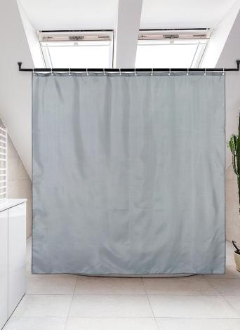Htovila 72 * 72 '' Poliestere Impermeabile Mildewproof Tenda da doccia decorativa Privacy Protezione Bagno Tenda con 12 pz Ganci - Grigio