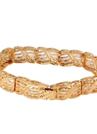 Jóia da forma personalidade Punk Rock estilo 18k ouro chapeado Metal Link mão corrente pulseira para meninas mulheres