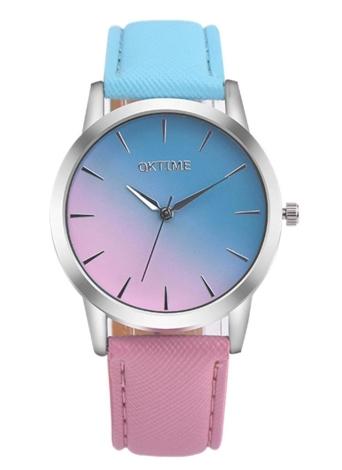 OKTIME New Fashion Colorfl Quartz Leather Band Women Casual Watches