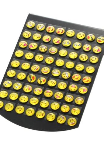 36 Pares Emoji Sorriso Ear Studs Diferentes Expressão Ear Studs Mulheres Personalidade Jóias