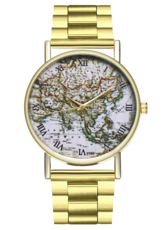 Reloj de cuarzo del reloj de las mujeres del diseño de la manera de las mujeres Reloj de cuarzo para mujer del acero inoxidable Relojes de oro femeninos de lujo