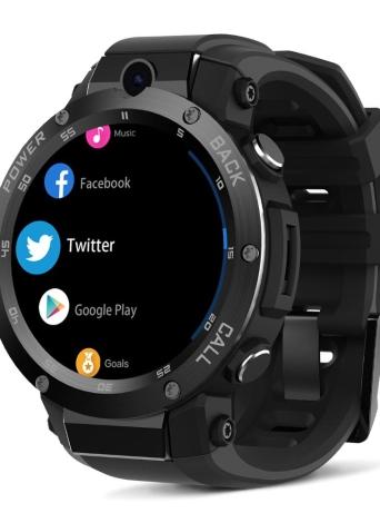 """Zeblaze Android 5.1OS 3G Smart Watch Téléphone 1.3GHz Quad Core CPU ROM et RAM Carte SIM Nano 1.39 """"Super AMOLED écran tactile GSM et WCDMA Wifi BT 4.0 GPS Podomètre Fréquence cardiaque Smartwatch pour iOS 9.0 et Android 5.0"""