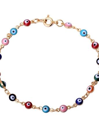La moda de Nueva Oro único colorido del cobre plateado de la pulsera del brazalete con perlas parecidas a ojos de la mujer de la boda del regalo del partido de la muchacha