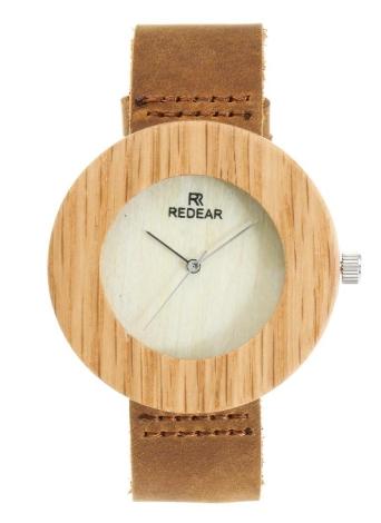 Redear reloj de madera reloj de cuarzo de las mujeres reloj de pulsera de cuero genuino femenino Relogio Feminino